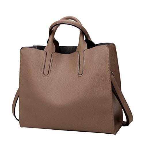 YiLianDa Borse Handbag Bauletto Borsa a Mano da Donna con Tracolla in PU Pelle come immagine(7)