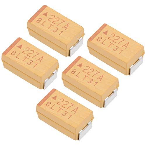 220uF Chip SMD Tantalkondensatoren 10V 7343D 10/% Toleranz 6X3,5X3mm Gelb sourcing map 5 Stk