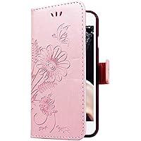 CE-LINK iPhone 6 Plus/iPhone 6S Plus Handyhülle Hülle Ledertasche Schutzhülle Leder Huelle mit Rosegold Schmetterling... preisvergleich bei billige-tabletten.eu