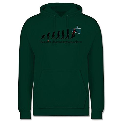 Evolution - Beachvolleyballspielerin Evolution - Männer Premium Kapuzenpullover / Hoodie Dunkelgrün