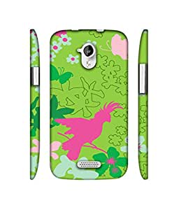 NattyCase Bird in Flowers Garden Design 3D Printed Hard Back Case Cover for Micromax Canvas HD A116