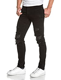 BLZ jeans - Jean homme noir slim destroy déchiré