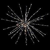 212er LED Firework Stern Hängestern silber IP44 max Ø 60 cm Timer Indoor Outdoor