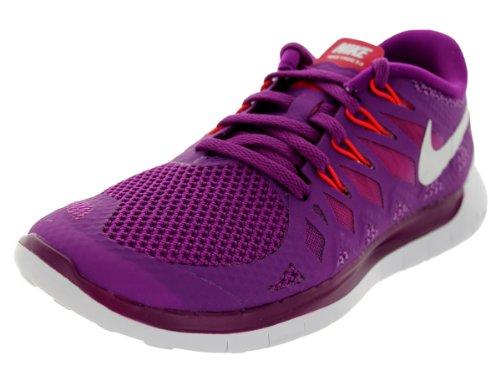 Nike Free 5.0, Chaussures de Running Femme Violet (Brght Grp/White-Vlt Shd-Lgn Rd 501)