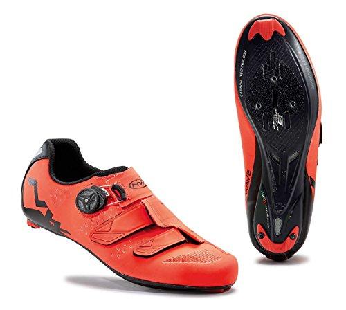 NORTHWAVE Phantom Carbon Rennrad Fahrrad Schuhe orange / schwarz, Größe:Gr. 44, Farbe:orange/schwarz