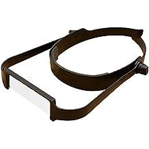 head-worn lupa cristal 1,6x 2x 2,5x 3,5x Visera con diadema lupa de lectura
