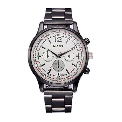 LABIUO Herren Hohe Qualität Sports Quartz Watches Crystal Stainless Steel Analog Quartz Wrist Watch(E,Freie Größe)
