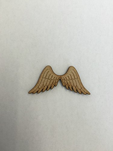 6x Engel Flügel 5cm Holz Craft Verzierungen Laser Schnitt Form MDF