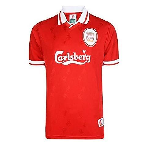 Liverpool FC officiel 1996classique bande Kit Maillot de Football Rétro pour homme xx-large