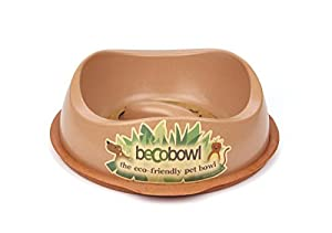 Becothings Becobowl Gamelle pour Chien Anti-Glouton Brun