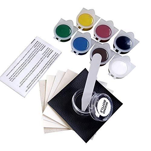 raninnao Lederreparatur Set 7 Farbe Kunstleder Reparaturset für Flüssigleder und Vinyl, für Autositze, Sofas, Taschen, Schuhe, Jacken, Polster, Bootssitze und Couches Kunstleder Reparaturset -