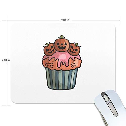 d gruselig Halloween Cupcake Computer Tastatur Mauspad, wasserabweisend, rutschfeste Unterseite, ideal für Gaming und Arbeiten ()