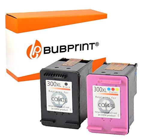 Bubprint 2 Druckerpatronen kompatibel für HP 300 XL HP300 300XL für Deskjet D1660 D2560 D2660 D5560 F2400 F2420 F2480 F2492 F4224 F4280 Black Color -