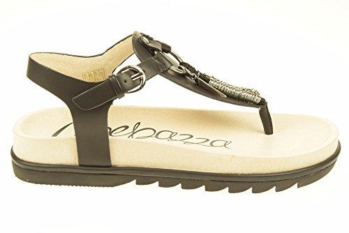 APEPAZZA donna sandali infradito ZOE04 ZAMBIA ECOVAC Nero