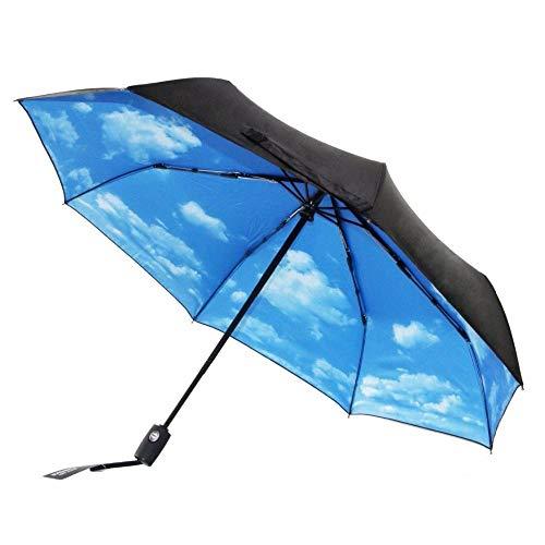 XIAOHE Regenschirm, Kompakter Taschenschirm, Automatisches ÖFfnen Und SchließEn, Winddichter VerstäRkter Rahmen, MäNnliche und Weibliche Reise Sowie UV-Schutz Sonnenschirm - Mit 10 Rippen