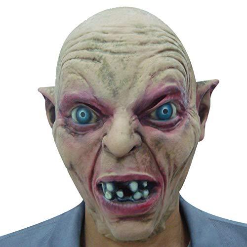Rave Kostüm Monster - KGAYUC® Horror Maske, Halloween Masken, Monster Mit Blauen Augen Latex Maske, Halloween Cosplay, Partei-Kostüm, Horror Geeignet FÜR Party, Rave Parties, Gesichtsmaske Cosplay Grusel
