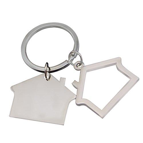 Monbedos Schlüsselanhänger Haus Form Anhänger Metallschlüsselkette Schlüssel Anhänger Zubehör 6,9 * 3,9 cm -