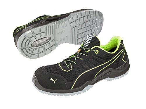 Puma , Chaussures de sécurité pour homme Noir/vert Clair