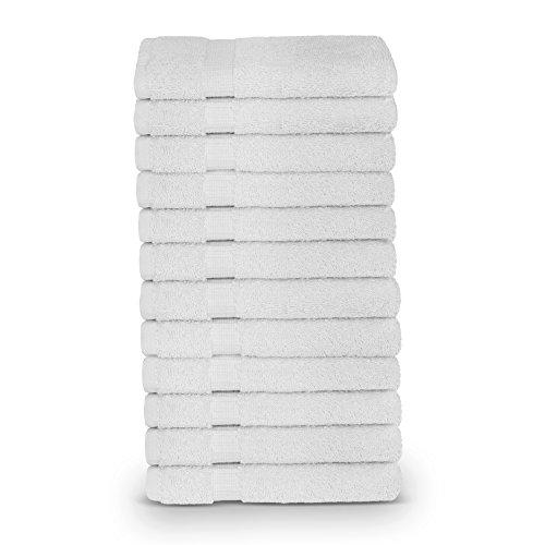 12Türkische Baumwolle Dobby Bordüre Eco freundlichem Gesicht Handtuch/Waschlappen Set by turkuoise Türkisches Handtuch weiß - Weiße Türkische Handtücher
