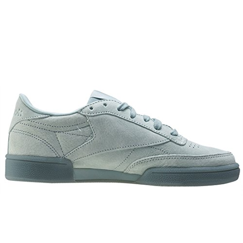 Reebok Womens Club Sneakers In Pizzo C 85 Grigio (grigio Mare / Bianco)