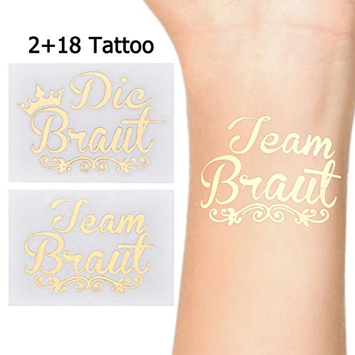 Kostüm Flash Das Frauen - LinkBro JGA Tattoos [ 20 Pack ] Die Bride Tattoos | Team Bride Tattoos für Junggesellinnenabschied, Bachelor Party, Hochzeit & Braut