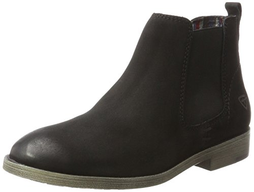 Chelsea Damen Schuh (Tamaris Damen 25071 Chelsea Boots, Schwarz (Black), 39 EU)