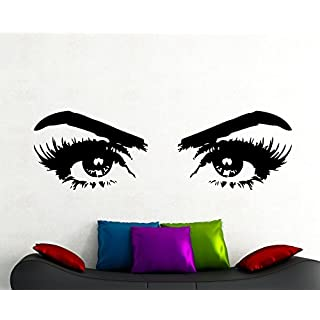 Beautyful Woman Eyes Wall Decal Make Up Decal Home Interior Design Living Room Bedroom Beauty Salon Decor Vinyl Art Removable Mural 5hezz