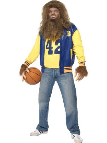 Herren Werwolf Teen Wolf 80s Lizenziertes Kostüm Halloween Fancy Komplettes Outfit