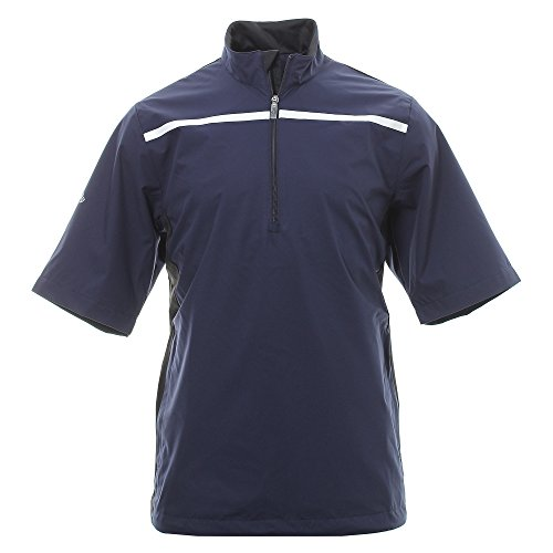 Callaway 1/2 Sleeve Chest Stripe Wind Golf-Jacke, Herren L blau -