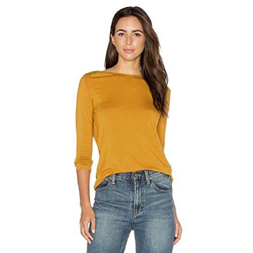 Culater® Backless atractivo de la manera ocasional de las mujeres de la blusa de manga larga de encaje T Shirt (XL,
