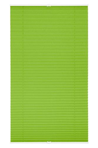 Wohn-Guide PKV.080.130.06P Plissee Klemmfix, ohne Bohren, verspannt Grün, 80 cm x 130 cm (B x L)