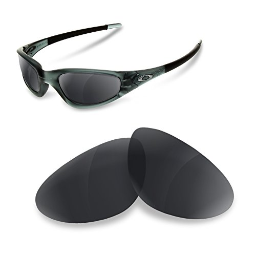 Polarisierte Erastzgläser Black Iridium für Oakley Old Straight jacket
