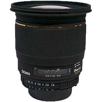 Sigma EX 20/1.8 DG RF - Objetivo para Nikon (distancia focal fija 20mm, apertura f/1.8, diámetro: 82mm) color negro
