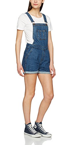 Urban Classics Damen Latzhose Ladies Short Dungaree, Blau (Ocean Blue 830), Small