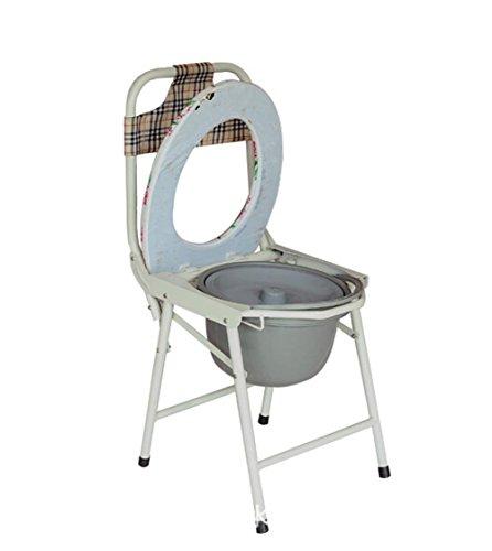 WAOBE Nachttisch Toilette Stuhl Folding leichte rutschfeste Toilette Stuhl geeignet für ältere Menschen / schwangere Frauen / Behinderte / Menschen mit eingeschränkter Mobilität