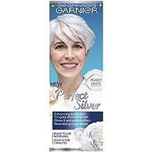 Garnier Perfect Silver - Crema blanca neutralizadora de cabello gris.