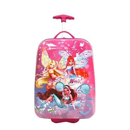 Disney Winx Club 40,6 cm côté rigide pour enfants – Patinette 2 Roues bagages