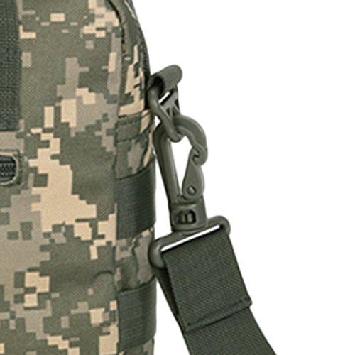 MagiDeal Uomo Borsa Messenger Militare Tattico Spalla Sacchetto per Trekking, Lavoro, PC Portatili in Nylon - Cachi ACU