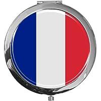 """metALUm - Extragroße Pillendose in runder Form""""Flagge Frankreich"""" preisvergleich bei billige-tabletten.eu"""