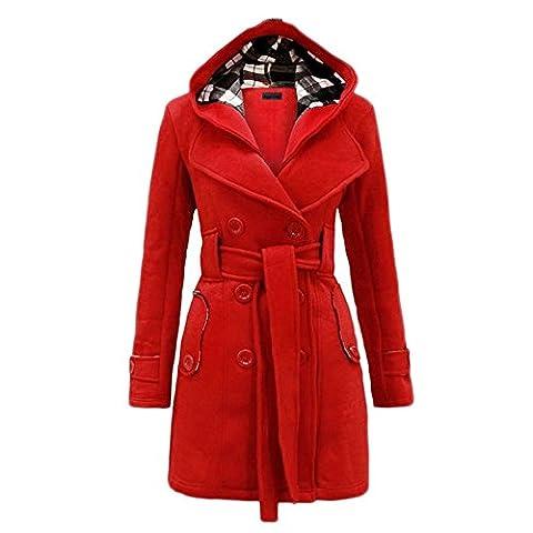 Bestfort Damen Wintermäntel Die Taille Trenchcoat frühjahrmantel Warm Frauen Windbreaker für Im frühjahr und Herbst Outdoor