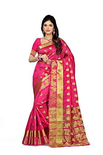 Rani Saahiba Zari Woven Chanderi Art Silk Saree(Pink_SKR2363)