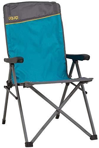 Uquip Klappstuhl Justy - Campingstuhl mit Verstellbarer Rückenlehne -