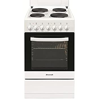 Brandt KE1500W Autonome Plaque scellée A Blanc four et cuisinière - Fours et cuisinières (Cuisinière, Blanc, Rotatif, Devant, Plaque scellée, Moyenne)