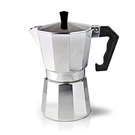 Cafe Ole ECM-03 Italian Style Aluminium Espresso Coffee Maker, 3 Cup (120ml)