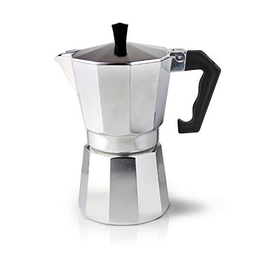 Cafe Ole ECM-03 Italian Style Aluminium Espresso Coffee Maker, 3 Cup (120ml)