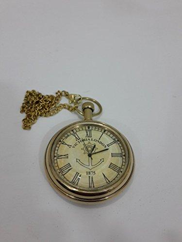Thor Instrumentos. Co Náutico Vintage Reloj de bolsillo de regalo de cadena de mano de Victoria Londres 1875con Golden