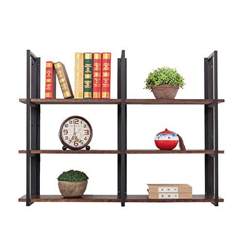 Midi- & Hochschränke Bücherregal Regal Wandregal Partition Lagerregal Wandhalterung Display-Ständer (Color : Brown, Size : 60 * 25 * 90cm)