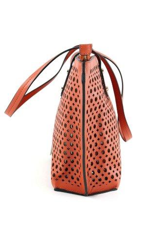 Made Italy , Sac à main pour femme Orange  - Orange