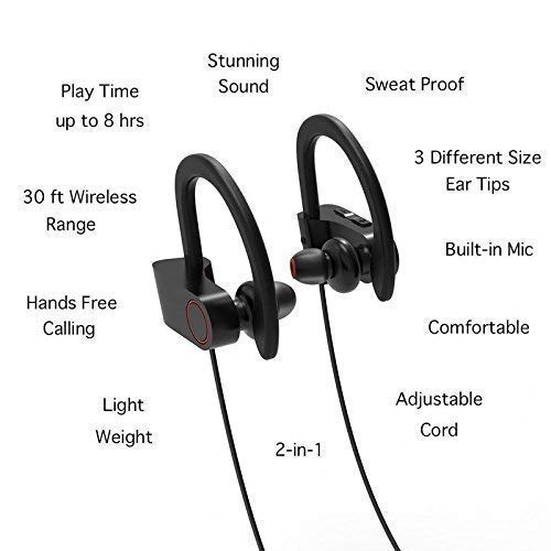 Valsh QC-10 Bluetooth Earphone Wireless Headphones for Mobile Phone Sports Stereo Jogger,Running,Gyming Bluetooth Headset Compatible with All Units(Multicolour) Image 2