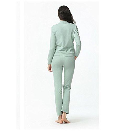 CHUNHUA Mme modal mode cardigan à manches longues ensemble pyjama survêtement (couleur en option) , gray , l (160/84a) Blue